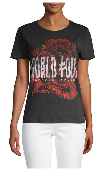 Prince Peter Collections Forever Young Graphic T-Shirt in black
