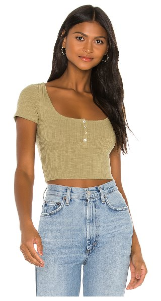 Privacy Please blair top in olive green