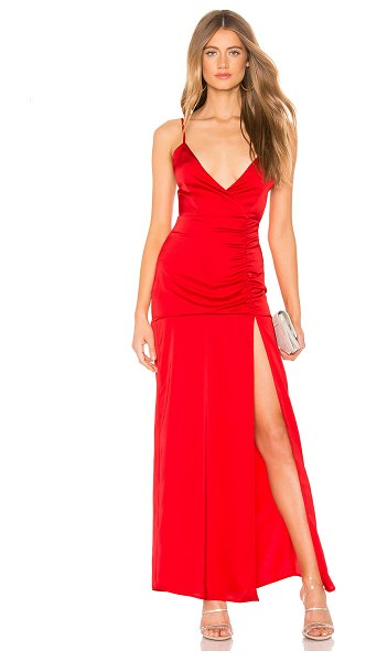 Privacy Please Darcy Maxi Dress in red - Self & Lining: 100% poly. Dry clean only. Partially...