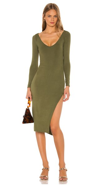 Privacy Please leighton midi dress in olive green