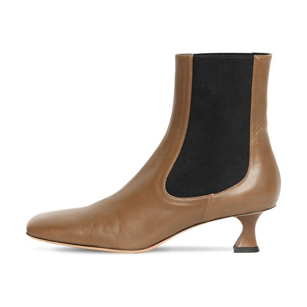 Proenza Schouler 50mm leather ankle boots in khaki