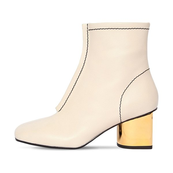 Proenza Schouler 60mm leather ankle boots in beige