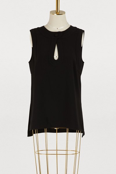 Proenza Schouler Crepe top in 00200 black - Inspired by urban styles, the Proenza Schouler fashion...