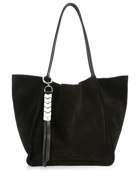 Proenza Schouler extra-large suede tote in black
