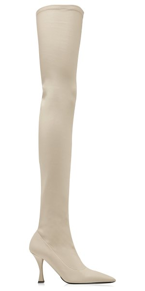 Proenza Schouler faux leather stretch thigh-high boots in white