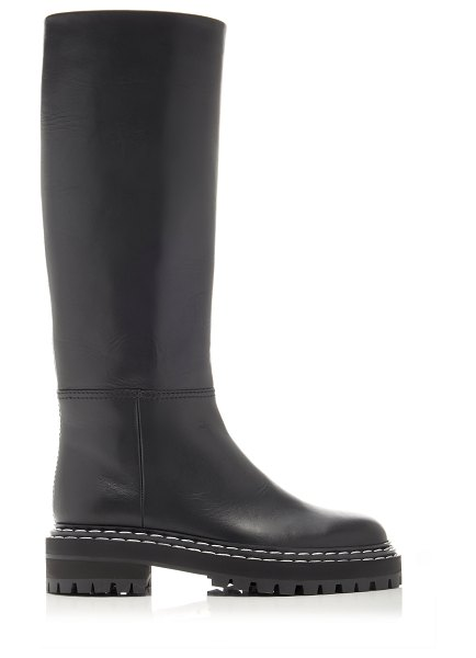 Proenza Schouler leather knee high boots in black