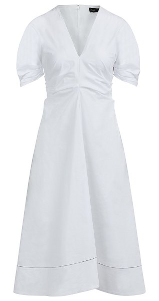 Proenza Schouler Long cotton dress in 00100 white