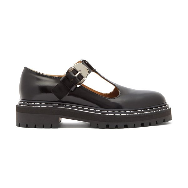 Proenza Schouler patent-leather mary-jane loafers in black