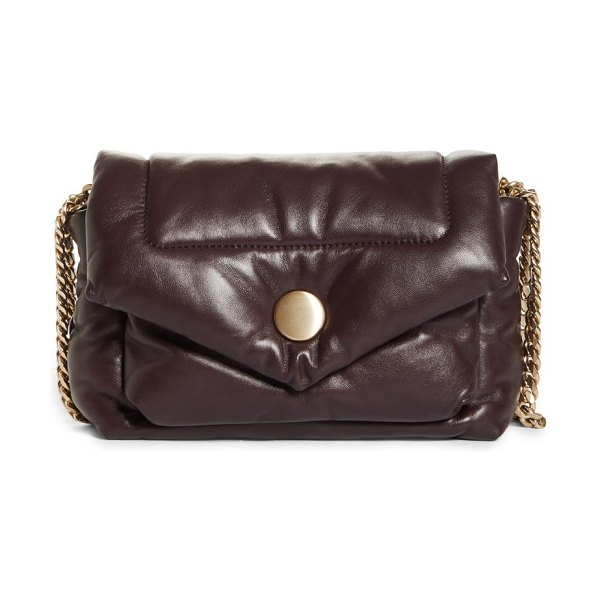 Proenza Schouler ps harris quilted leather shoulder bag in chocolate plum at nordstrom in chocolate plum