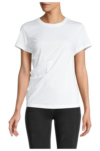 Proenza Schouler PSWL Soft Twisted T-Shirt in white