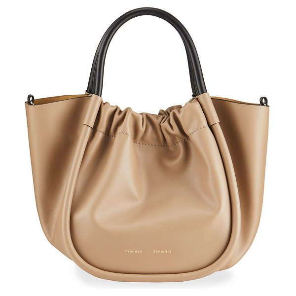 Proenza Schouler Ruched Top Handle Tote Bag in light taupe 2078