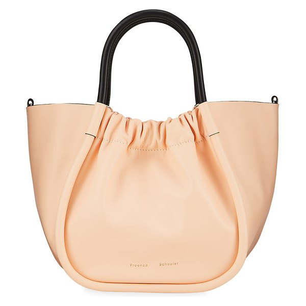 Proenza Schouler Ruched Top Handle Tote Bag in peach