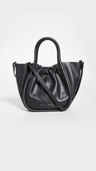 Proenza Schouler small ruched tote in black