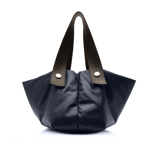 Proenza Schouler tobo oversized leather tote bag in navy