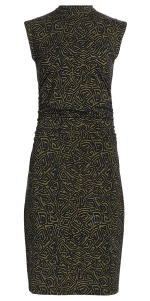 PROENZA SCHOULER WHITE LABEL abstract swirl bodycon dress in military black
