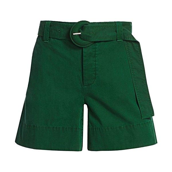 PROENZA SCHOULER WHITE LABEL washed cotton belted shorts in spring green
