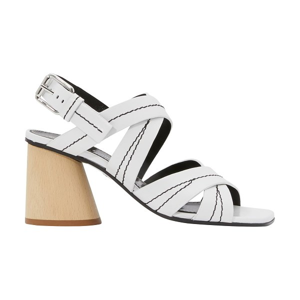 Proenza Schouler Wooden heel sandals in white - Made in Italy from high-quality leather, these wooden...