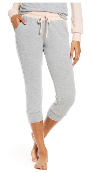 Project Social T chelsea colorblock lounge pants in heather grey / cameo rose