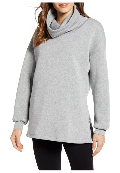 Project Social T funnel neck tunic in grey