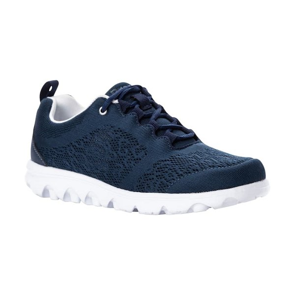 Propet travelactiv lace-up sneaker in navy fabric