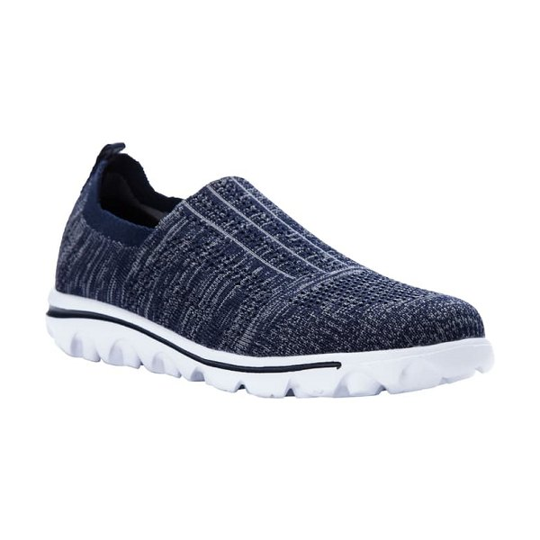 Propet travelactiv stretch slip-on sneaker in navy fabric