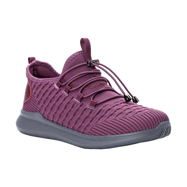 Propet travelbound stretch sneaker in crushed berry fabric