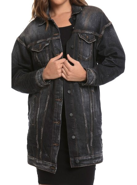 PRPS oversize denim jacket in black - With a well-worn look that usually takes years to...