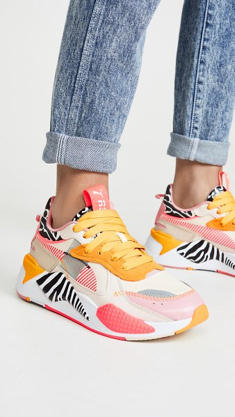 PUMA rs-x unexpected mixes sneakers in pastel/bridal rose/sulphur