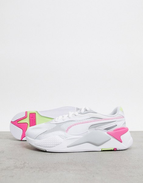 PUMA rs-x3 sneakers in gray and pink in gray
