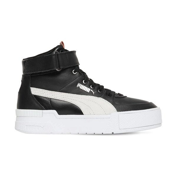 PUMA SELECT Cali sport high top sneakers in black,white