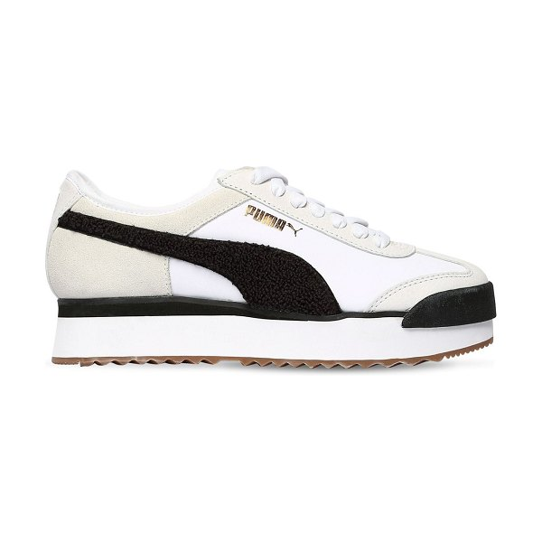 PUMA SELECT Roma amor heritage sneakers in white,black