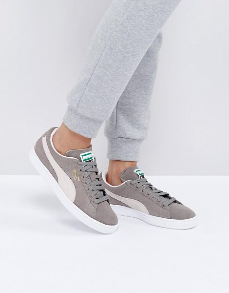 PUMA Suede Classic Sneakers In Gray - Sneakers by PUMA, Suede upper, Lace-up fastening, Branded...