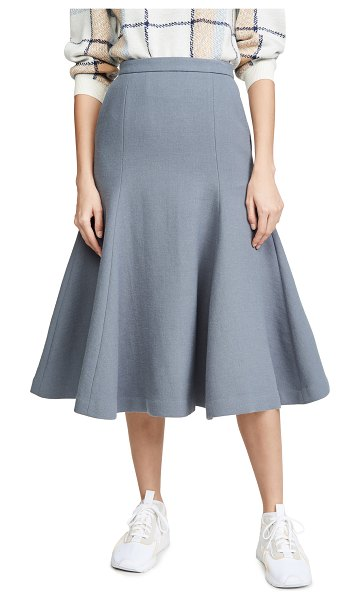 pushBUTTON flare volume skirt in grey