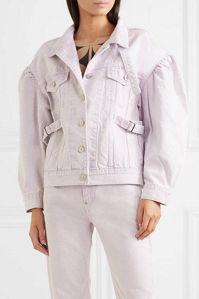 pushBUTTON oversized denim jacket in lilac - Pushbutton's Seung Gun Park draws inspiration from the...