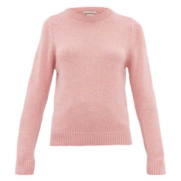QUEENE AND BELLE tushingham crown-embroidered cashmere sweater in pink