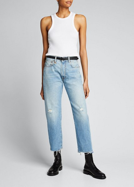 R13 Boyfriend Jeans with Frayed Hem in holly