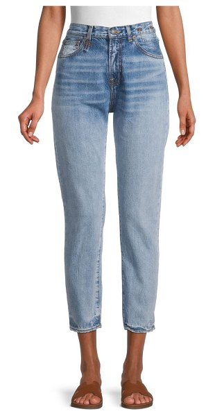 R13 High-Rise Cropped Slim Jeans in haston