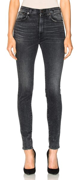 R13 High Rise Skinny in black,gray - 92% cotton 6% elastomultiester 2% elastan.  Made in...