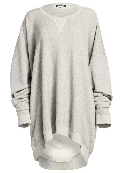R13 long oversized sweatshirt in heather grey