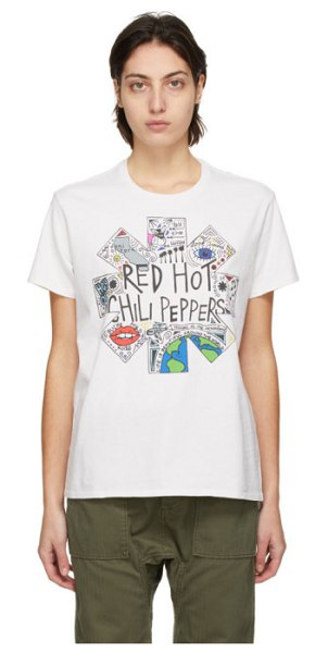 R13 off-white rhcp doodle boy t-shirt in dirty white
