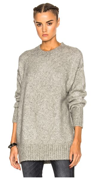R13 oversized crewneck sweater in heather grey