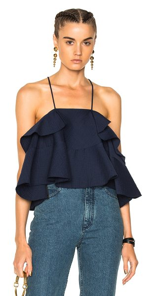 Rachel Comey Euphora Top in blue - Self: 86% cotton 14% polyamide - Lining: 100% poly. ...