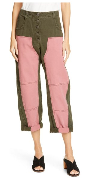 Rachel Comey handy colorblock crop pants in jalapeno