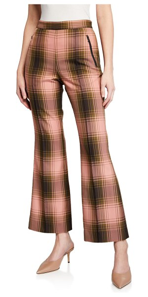 Rachel Comey Luca Plaid Flare Pants in pink