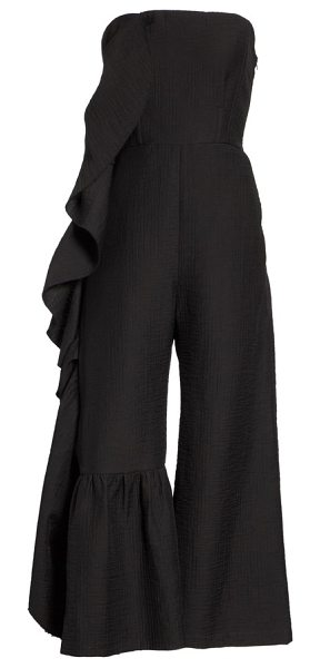 0bf9ae5d58e Rachel Comey revel strapless jumpsuit in black - A languid ruffle cascading  down the side imparts