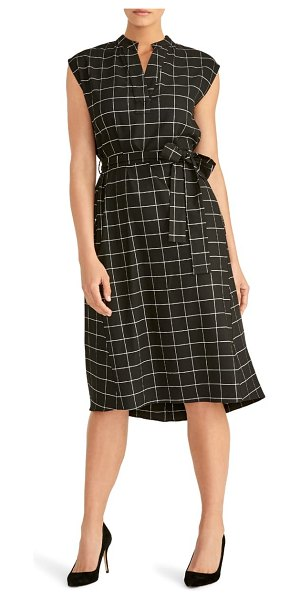 RACHEL ROY COLLECTION nanette tie waist dress in black combo