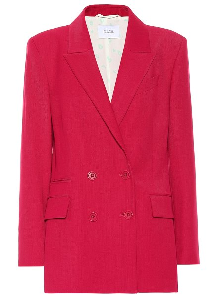 RACIL archie wool-blend blazer in red