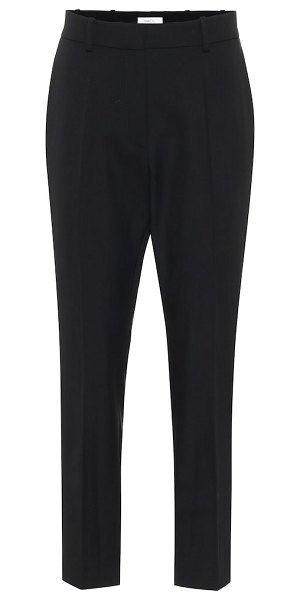 RACIL high-rise wool pants in black