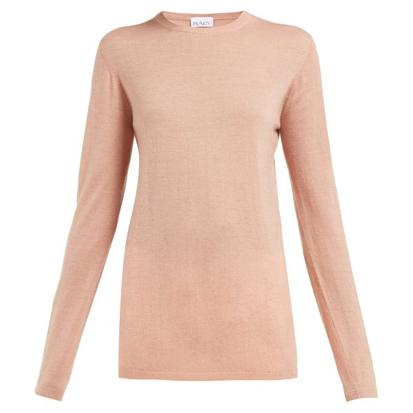 RAEY long-line fine-knit cashmere sweater in pink