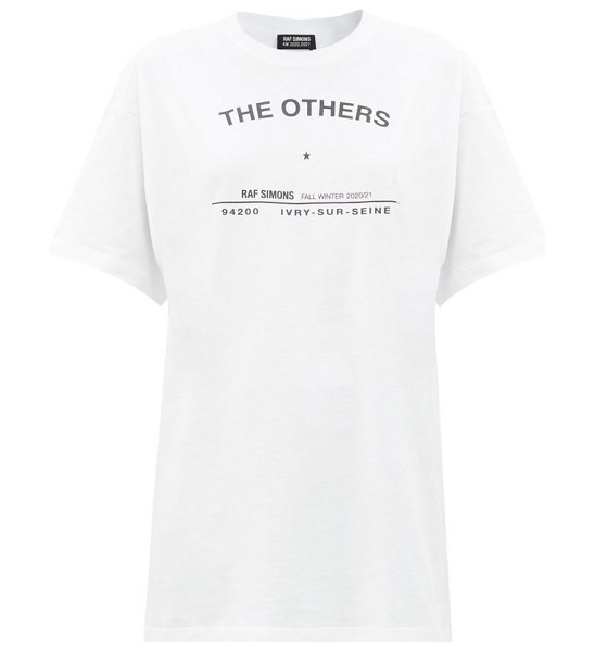 Raf Simons the others-print cotton-jersey t-shirt in white